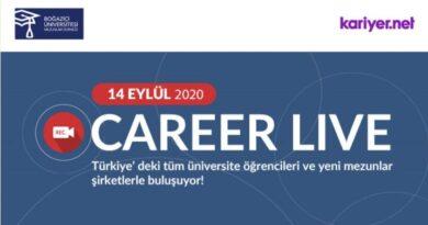 14 Eylül'de CareerLive etkinliğine bekliyoruz.