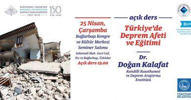 Açık Ders Türkiye'de Deprem Afeti ve Eğitimi