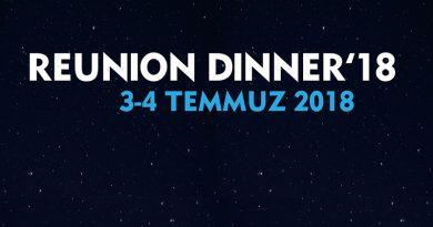 REUNION DINNER için BÜMED'e davetlisiniz!